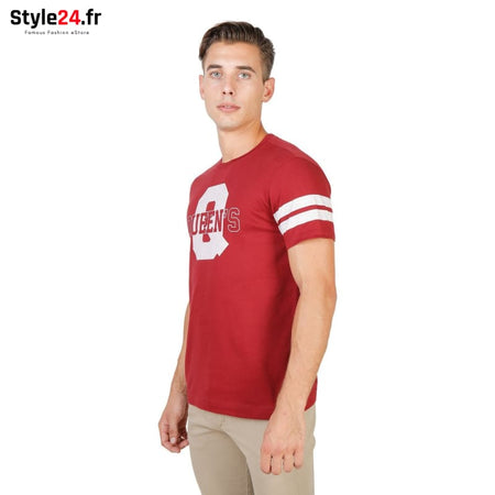 Oxford University - QUEENS-STRIPED-MM Vêtements T-shirts Brand_Oxford Category_Vêtements Color_Rouge Gender_Homme Subcategory_T-shirts