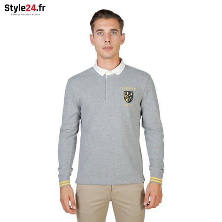 Oxford University - TRINITY-POLO-ML Vêtements Polo grey / S -75% Brand_Oxford Category_Vêtements Color_Gris Gender_Homme Subcategory_Polo