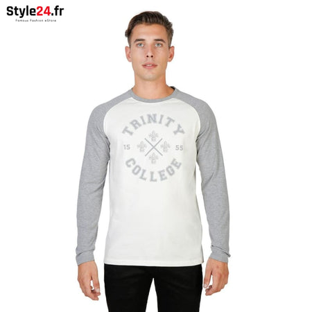Oxford University - TRINITY-RAGLAN-ML Vêtements T-shirts grey / S -65% Brand_Oxford Category_Vêtements color-grey color-gris Color_Gris