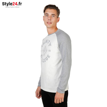 Oxford University - TRINITY-RAGLAN-ML Vêtements T-shirts Brand_Oxford Category_Vêtements Color_Gris Gender_Homme Subcategory_T-shirts