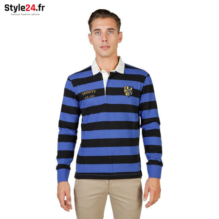 Oxford University - TRINITY-RUGBY-ML Vêtements Polo Brand_Oxford Category_Vêtements Color_Noir Gender_Homme Subcategory_Polo