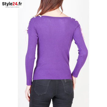 Pinko - 1G12N7-Y3LL Vêtements Pulls Brand_Pinko Category_Vêtements Color_Violet Gender_Femme Subcategory_Pulls www.style24.fr