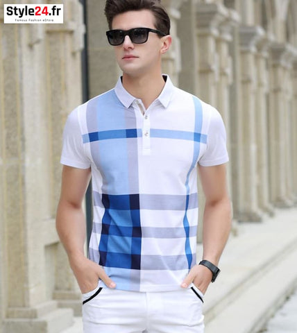 Polo camisa club style | bleu Style24.fr Vêtements 20-50 color-blue color-navy-blue homme style24-fr www.style24.fr