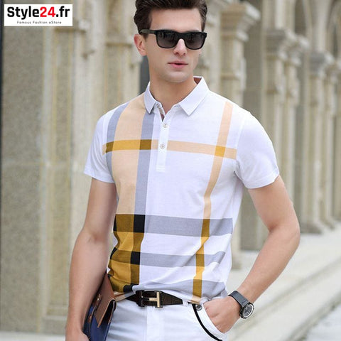 Polo camisa club style | jaune Style24.fr Vêtements Jaune / M 20-50 color-jaune homme style24-fr vetements-polo www.style24.fr