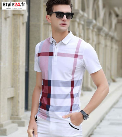 Polo camisa club style | rouge Style24.fr Vêtements 20-50 color-rouge homme style24-fr vetements-polo www.style24.fr