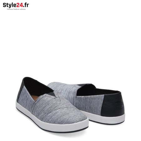 TOMS - SPACE-DYE-AVA_10011636 Chaussures Slip-on 20-50 Brand_TOMS Category_Chaussures chaussures-slip-on color-black www.style24.fr