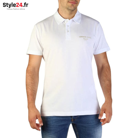 Versace Jeans - B3GTB7P7_36610 Vêtements Polo white / 46 -25% 50-100 Brand_Versace Category_Vêtements color-blanc color-white