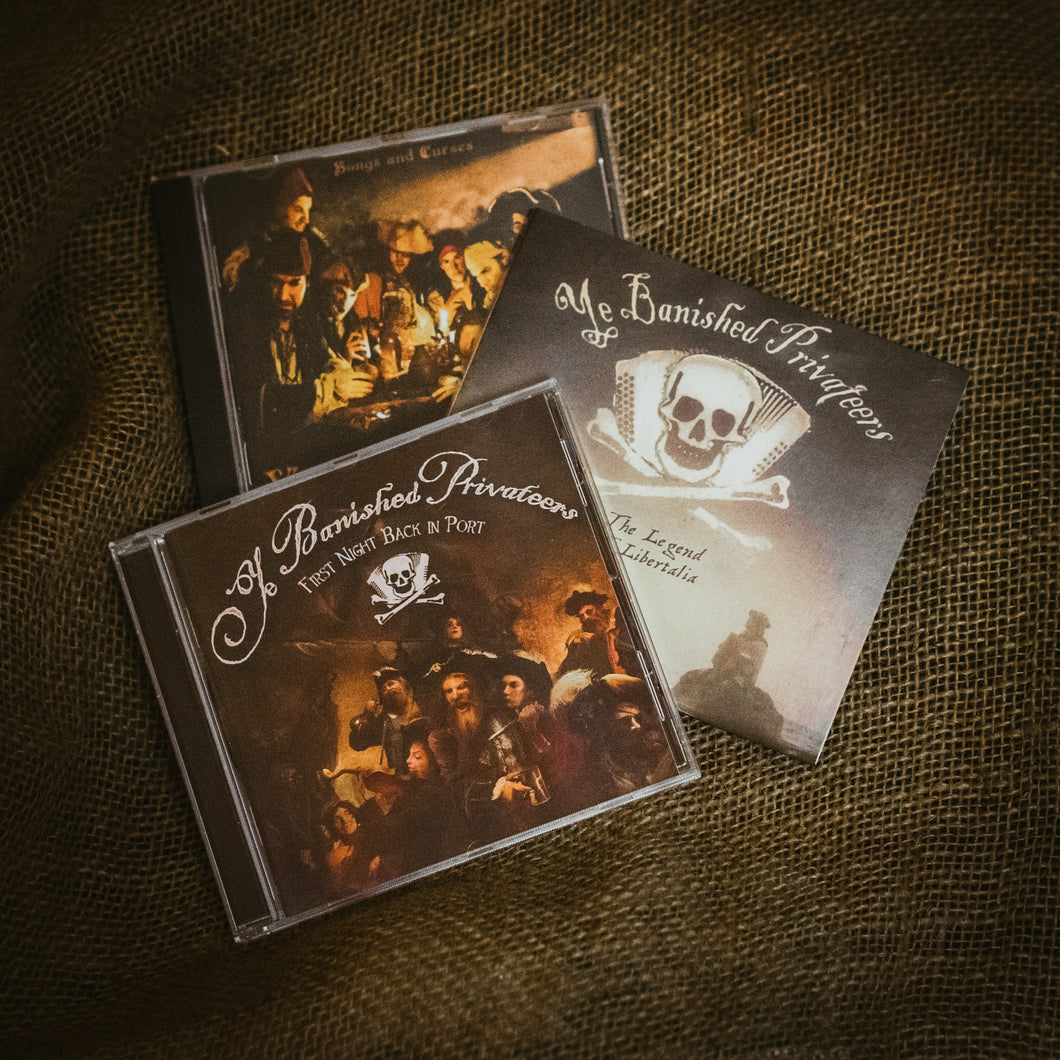 Special offer bundle: All three Ye Banished Privateers CDs