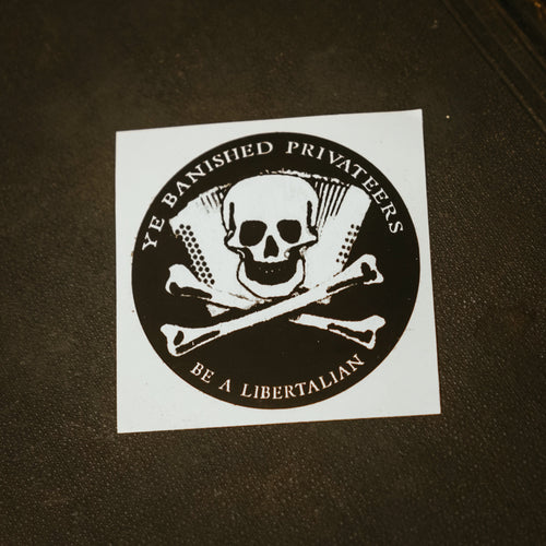 Ye Banished Privateers Skull Sticker