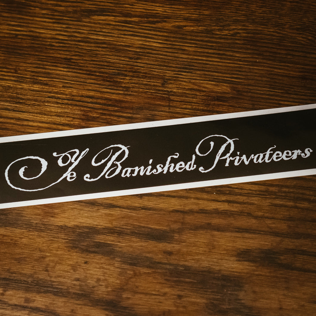 Black Banner Sticker
