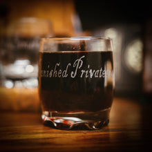 Ye Banished Privateers Tumbler Glass, Songs and Curses Edition.