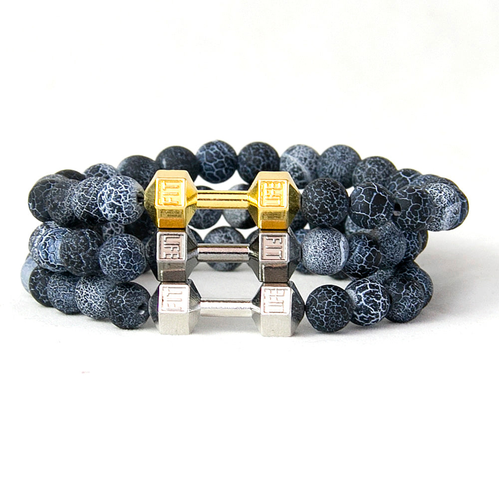 Weathered Granite Dumbbell Bracelet