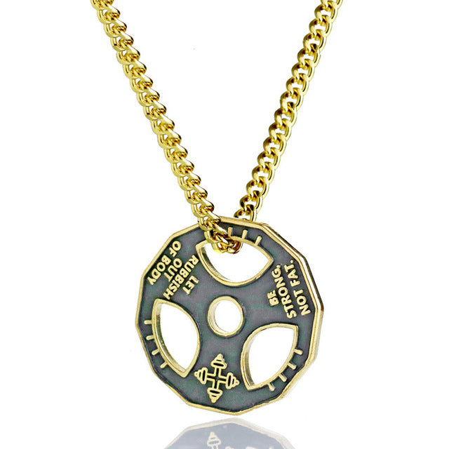 Bodybuilding Weight Plate Necklace
