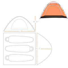 Lightweight 2-3 Person Family Camping Tent