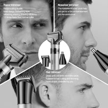 Portable Electric Hair Clipper Beard Shaver Nose Ear Hair Trimmer USB Rechargeable Washable 3/6/9/12mm Adjust