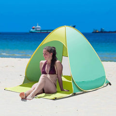 Vgguer Automatic Pop Up Instant Portable Outdoors Quick Cabana Beach Tent Sun Shelter