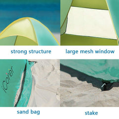 iCorer Pop Up Instant Beach Cabana Tent Sun Shelter