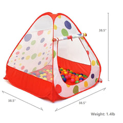 Pop Up Kids Play Tent Playhouse, Balls Not Included, Red