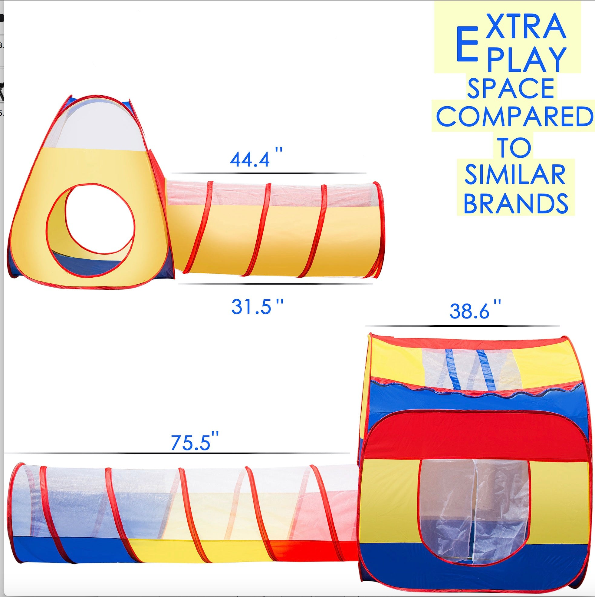 Extra Large Kid Tent Icorer 4pc Pop Up Children Play Tent