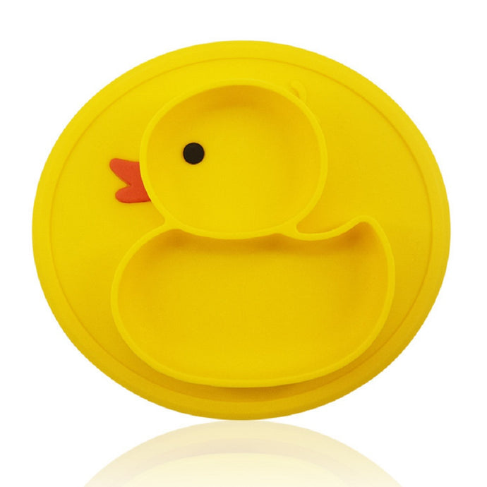 Silicone Placement Mats for Babies Toddlers, BPA Free, Duck Shaped