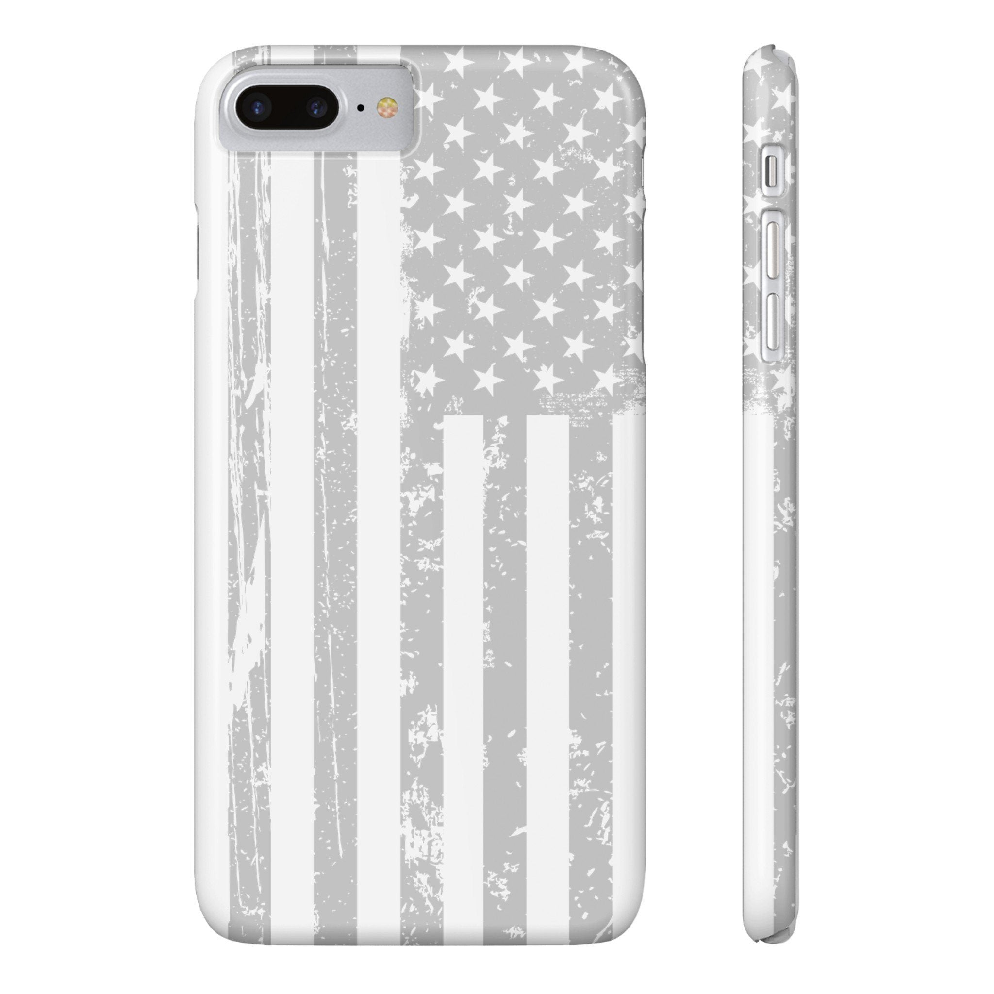 American Flag iPhone 7 Plus - Light Grey