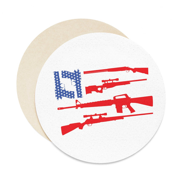 2nd Amendment Coaster Set - 6 pcs