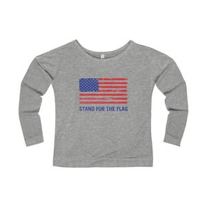"Women's ""Stand For The Flag"" Long Sleeve Scoopneck T-Shirt"