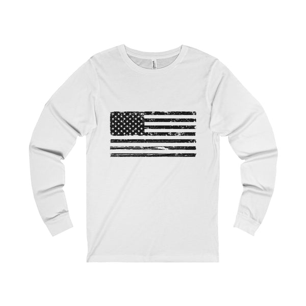 Men's American Flag Long Sleeve T-Shirt