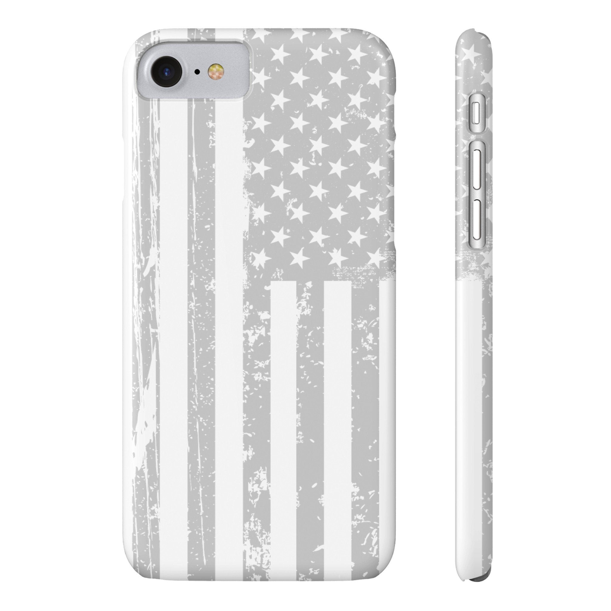 American Flag iPhone 7 Case - Light Grey