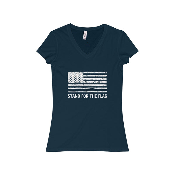 "Women's ""Stand For The Flag"" V-Neck T-Shirt"