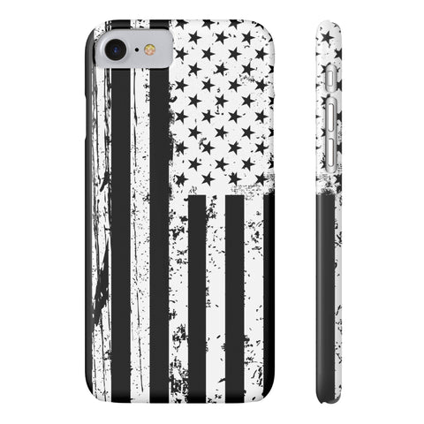 American Flag iPhone 7 Case - B&W