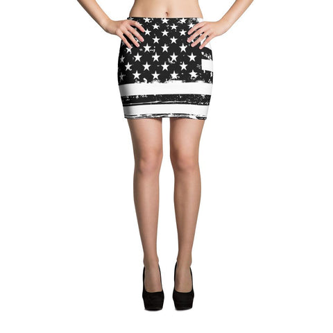 American Flag Mini Skirt