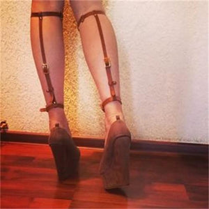 2pc Leg Calf Harness Straps | Rave Outfit