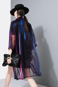 Holographic Womens Coat | Rave Outfit