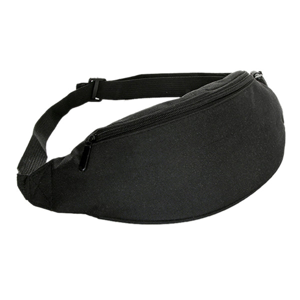 Black Minimal Festival Fanny Pack | Raver Outfit