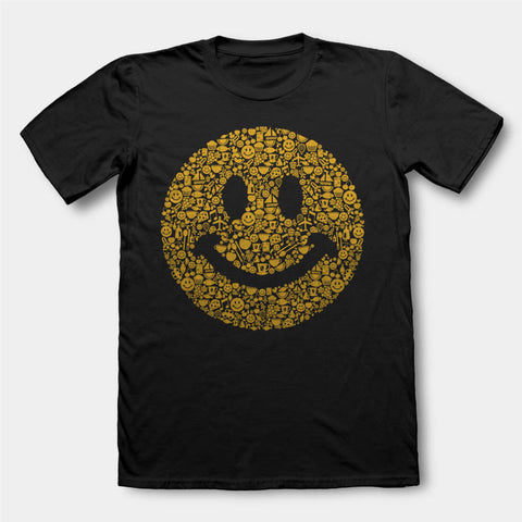 ACID HOUSE SMILEY FACE T SHIRT 90'S RAVE