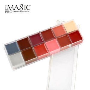 IMAGIC Body Face Paint Waterproof Makeup Neon UV Face Paint 12color