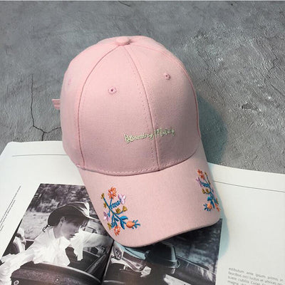 Rose Embroidery Baseball Caps