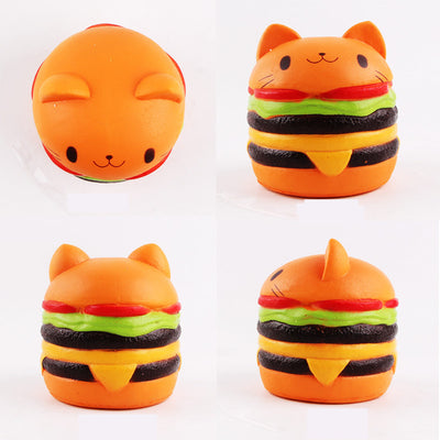 Squishy Jumbo Cat Hamburger