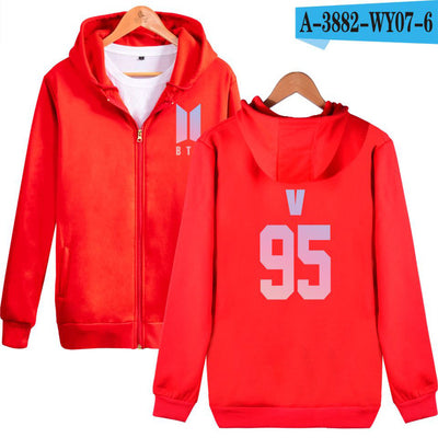 BTS DNA Zipper Hoodies
