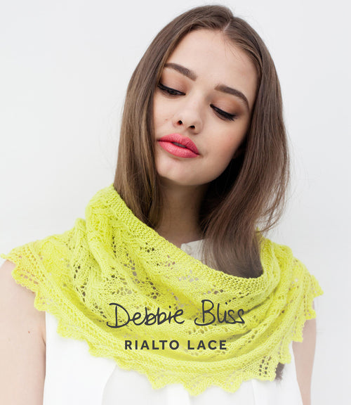 Lace Edged Cowl Kit Debbie Bliss Rialto Lace - Knit One Purl One Yarns
