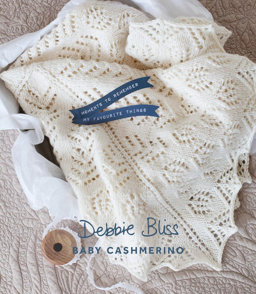 Debbie Bliss 015 Baby Blanket in Baby Cashmerino - Knit One Purl One Yarns