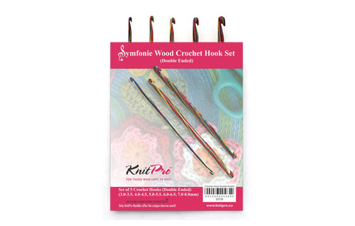 KnitPro Symfonie Crochet Hook Set Double Ended