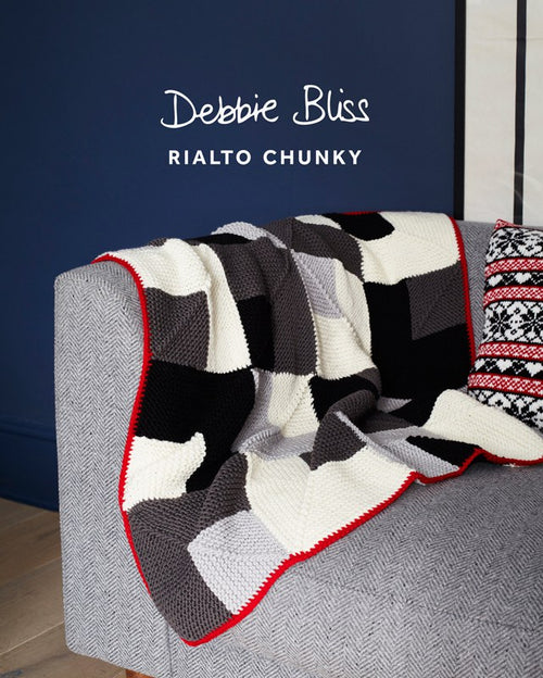 Debbie Bliss 035 Garter Stitch Throw in Rialto Chunky - Knit One Purl One Yarns