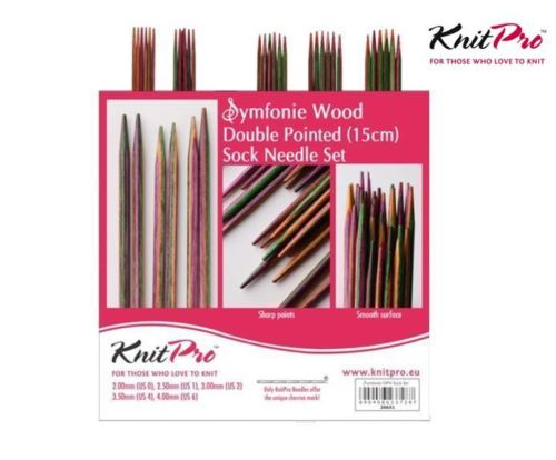Knitpro Symfonie Wood Double Pointed Needle Set 15 cm length