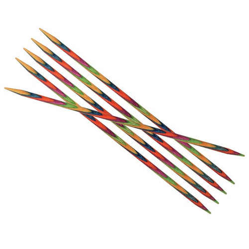 Knit Pro Symfonie Wood Double Pointed Sock Knitting Needle Set 15cm (Set of 6) - Knit One Purl One Yarns