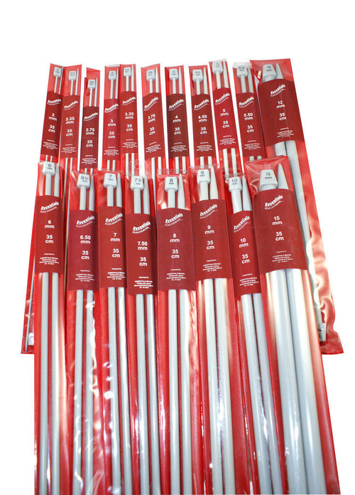 Essentials Single Pointed Knitting Needles 25cm (pair) - Knit One Purl One Yarns