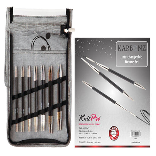 KnitPro Karbonz Deluze Interchangeable Needle Set - Knit One Purl One Yarns