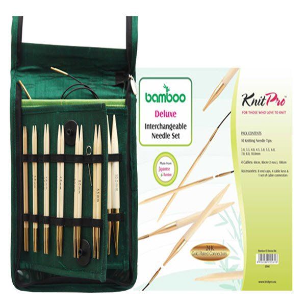 KnitPro Bamboo Interchangeable Needle Deluxe Set - Knit One Purl One Yarns