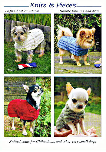 Knits & Pieces KP06 Hand Knitted Coats For Chihuahuas & Very Small Dogs